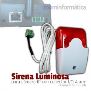 sirena exterior conectada a cámara IP