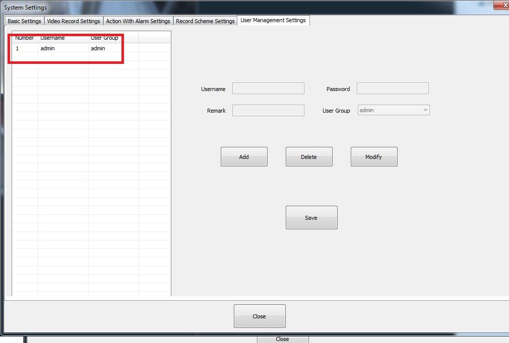 Software Foscam VMS - Configuración usuarios