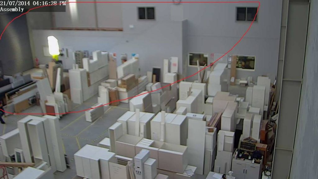 Cámara IP se ve borrosa parcialmente