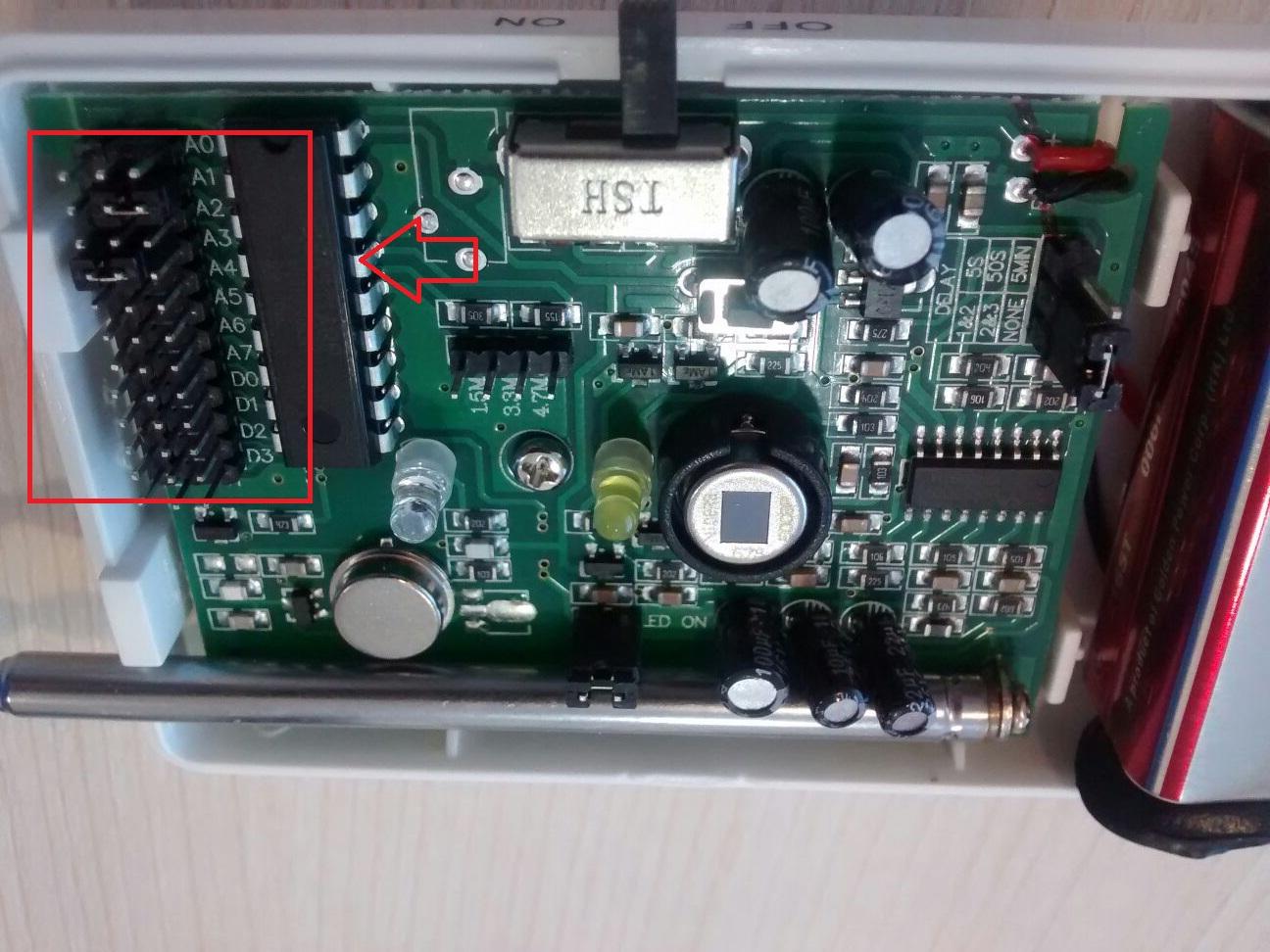 Codificación PT2262 AZ009, AZ017, AZ016 GA997CQ