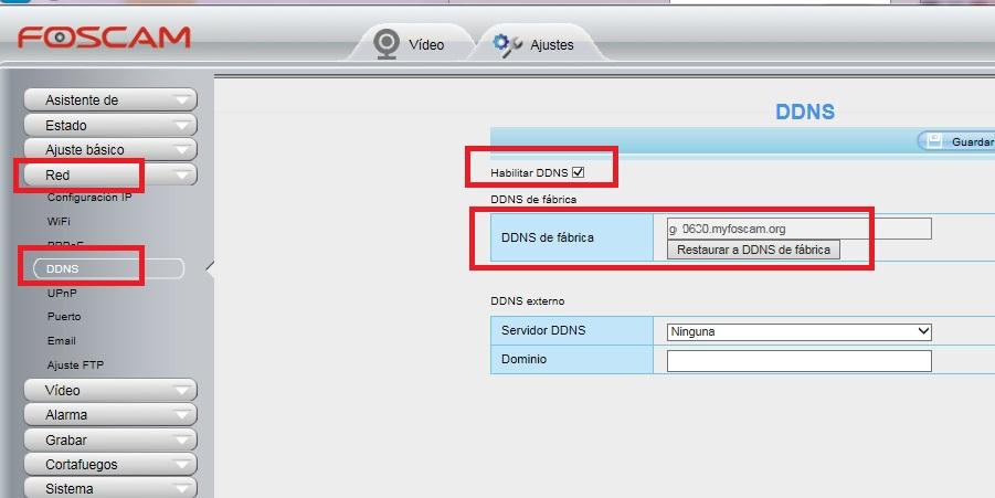 Activar configuración DDNS en nuestra cámara IP