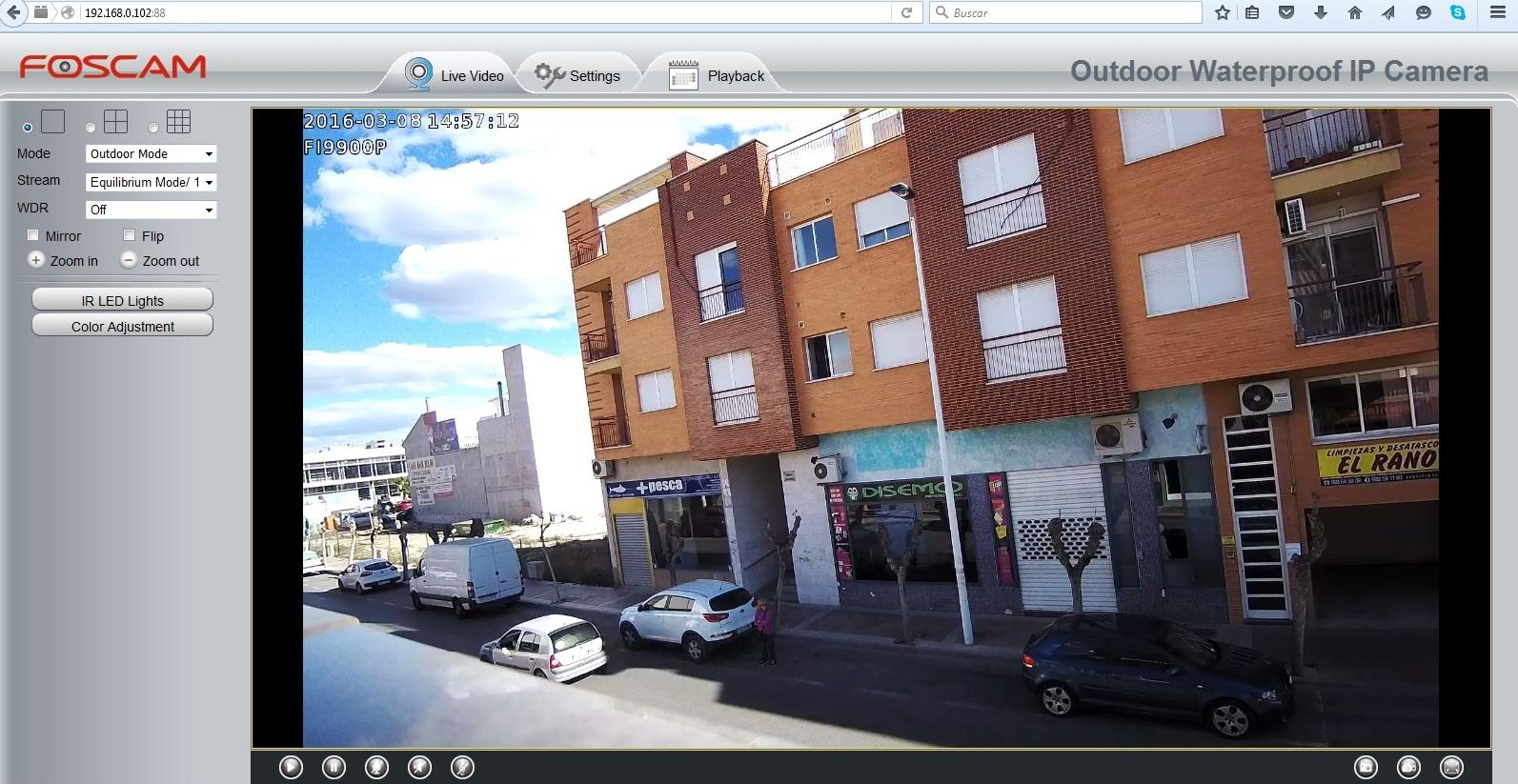 Demostración Foscam FI9900P Angulo 118º Resolución HD 1080P