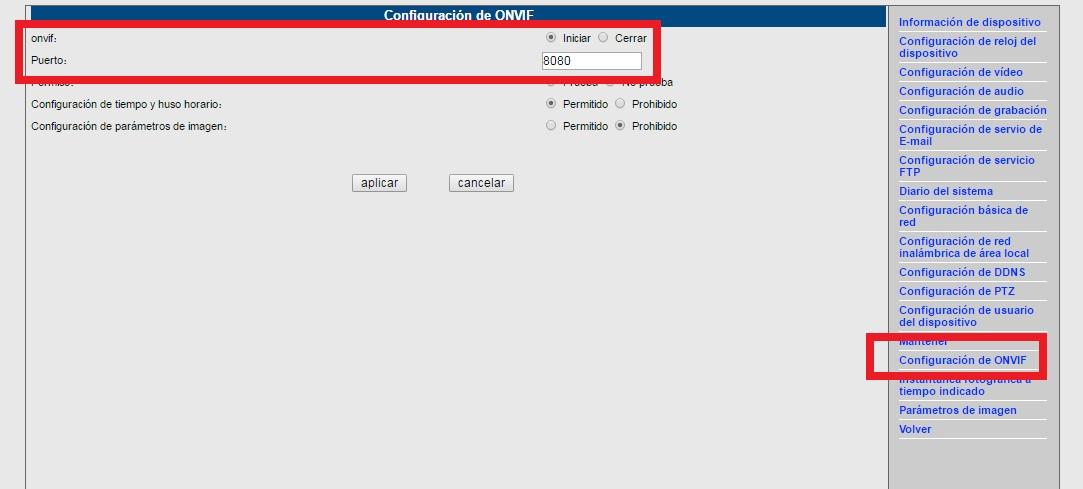 comprobar nuestra cámara IP Wanscam es ONVIF