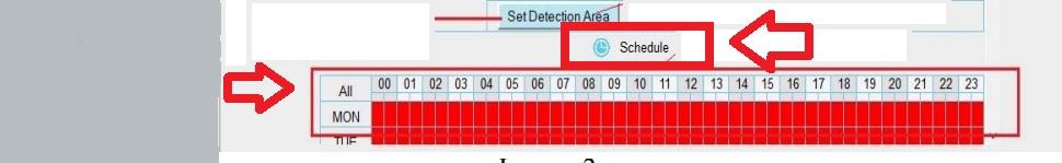 Foscam alarma: establece horario detección