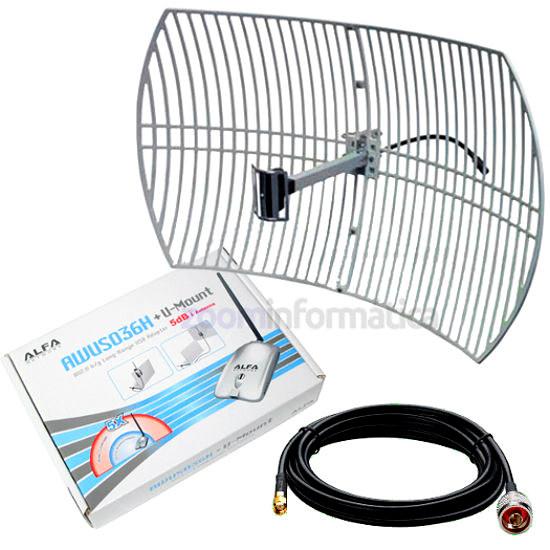 Kit completo antena wifi largo alcance