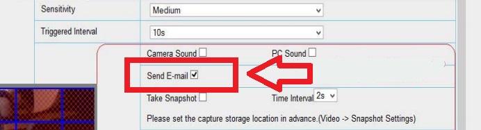 Foscam alarma: activar envio de email