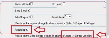 Foscam alarma: activar grabación vídeo