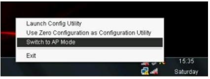 Configurar RT3070 en modo AP: cambiar a modo AP