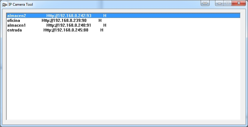 Configurar y descargar IP Camera Tool - Search Tool