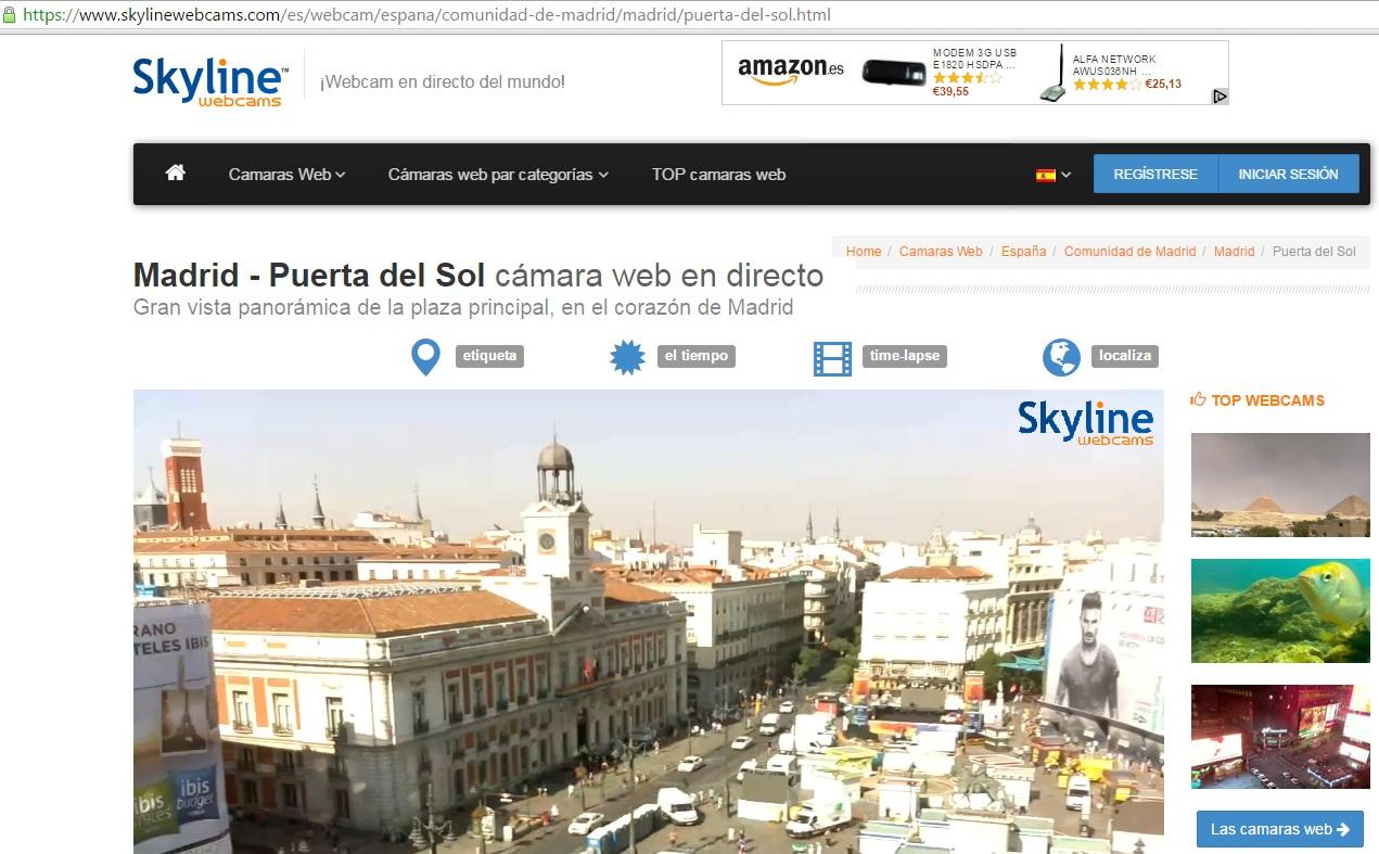 Como insertar una c mara ip en nuestra p gina web zoominformatica blog - Webcam puerta del sol ...