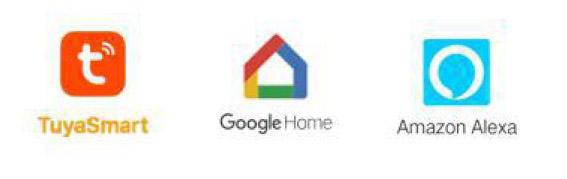 compatible google home, alexa tuya smart
