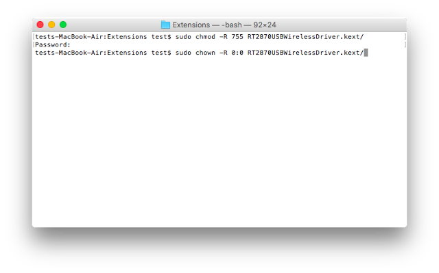 Configuración Ralink en MAC OS El Capitan