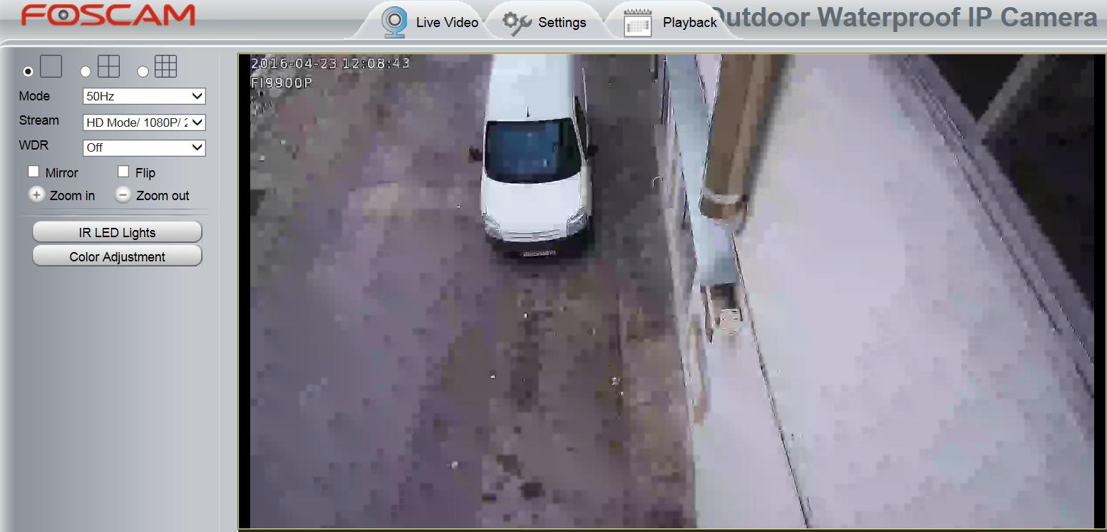 Captura imagen cámara IP con bajo BitRate