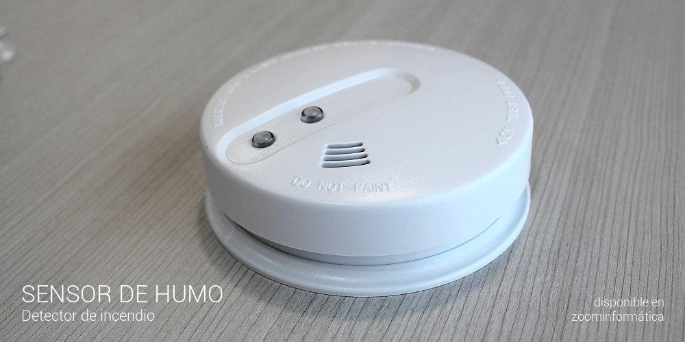 Detectores para alarma: sensor de humo