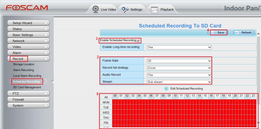 Foscam Configuración grabación COVER