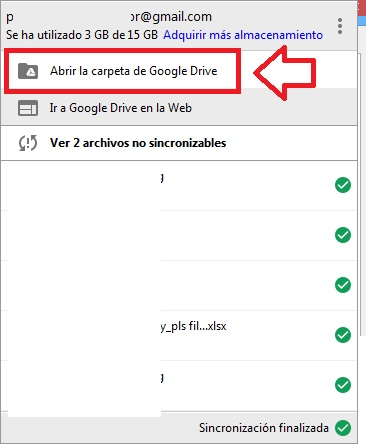 Foscam Google Drive carpeta