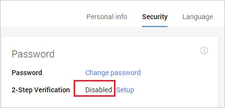 Foscam gmail: desactivar configuración en 2 pasos