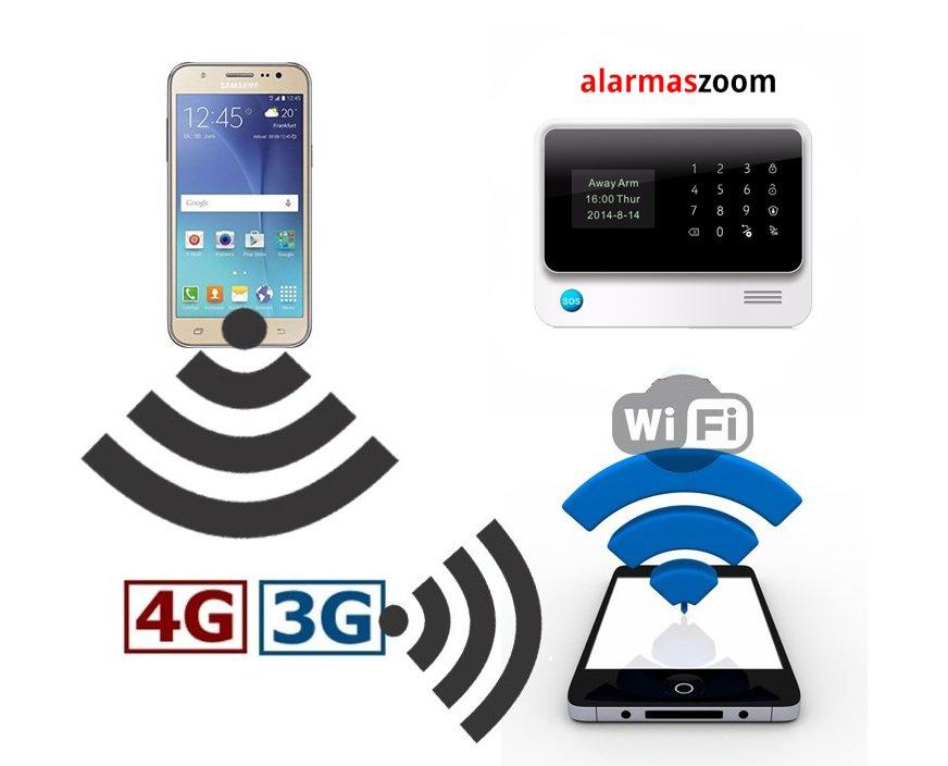Como conectar una alarma WiFi a la red WiFi emite un teléfono móvil
