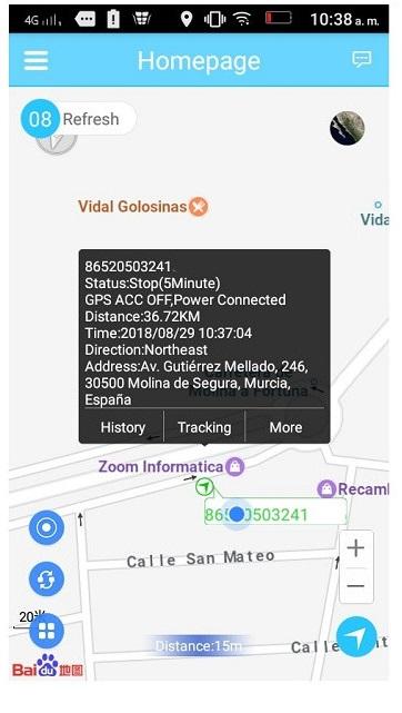 posición tiempo real localizador gps