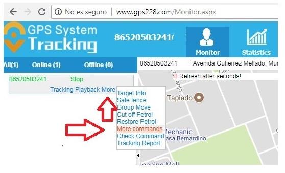 configuracion localizador gps desde pc