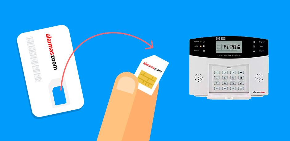 Cómo instalar tarjeta SIM en alarmas GSM