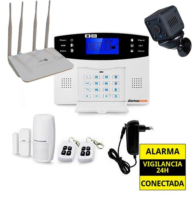 Kit de alarma anti okupas con camara y router 4G