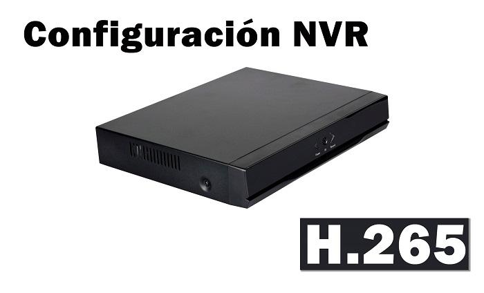 Configuración NVR H265 para cámaras IP