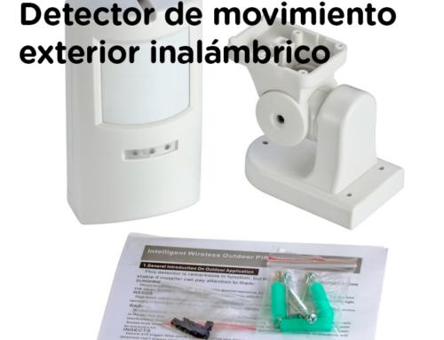Instrucciones detector movimiento exterior anti mascotas WOP-650