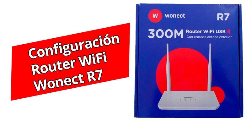 Como configurar router WiFi Wonect R7 USB